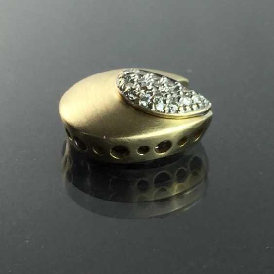 Designer pendant: yellow gold and white gold 585, brilliants. Unique. - photo 3