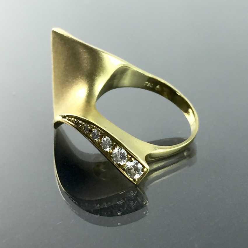 Designer Ring: Christian Bauer Jewelry, Welzheim. Yellow gold 750 and brilliant-cut diamonds. Unique. - photo 7