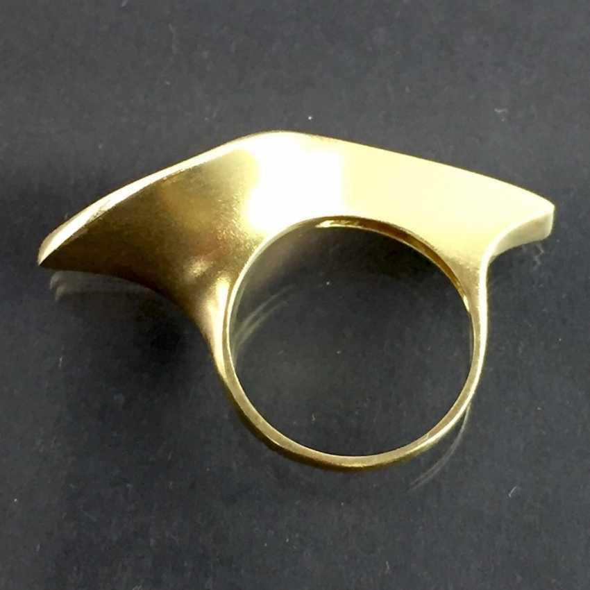 Designer Ring: Christian Bauer Jewelry, Welzheim. Yellow gold 750 and brilliant-cut diamonds. Unique. - photo 8