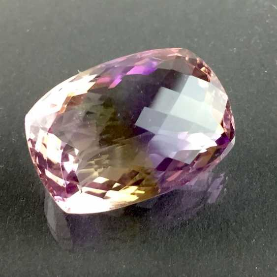 Large Ametrine, faceted, 22-carat. - photo 2