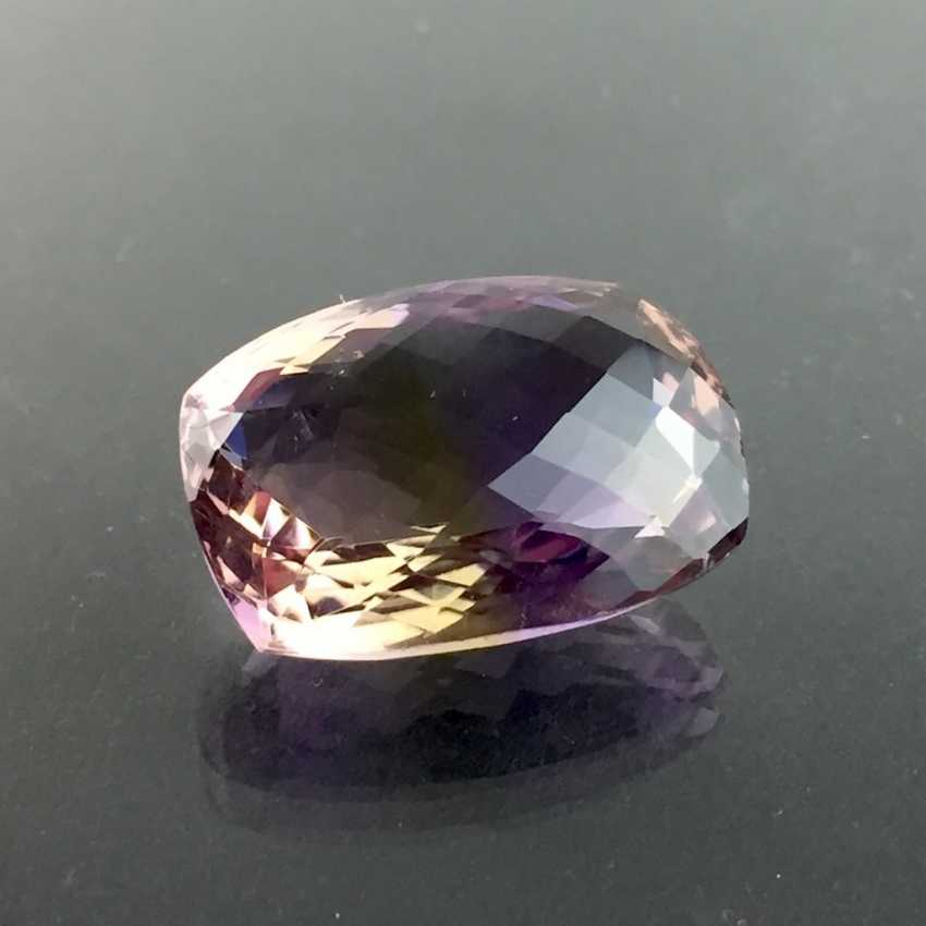 Large Ametrine, faceted, 22-carat. - photo 3