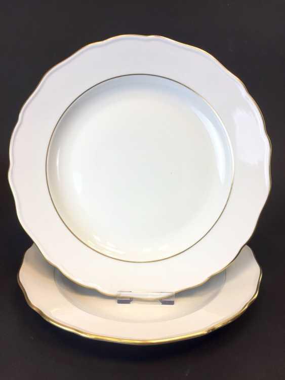 Two Dinner Plate: Meissen Porcelain. The gold edge. - photo 1