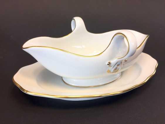 Gravy Boat: Meissen Porcelain. The gold edge. - photo 2