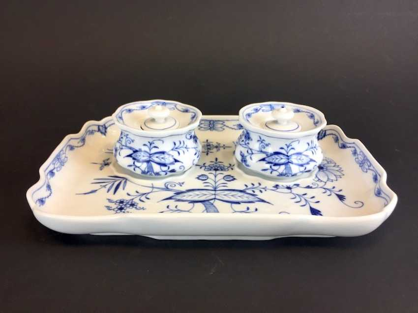 Large Writing Set: Meissen Porcelain. Onion pattern. - photo 1