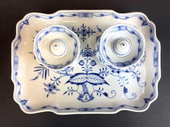 Large Writing Set: Meissen Porcelain. Onion pattern. - photo 2