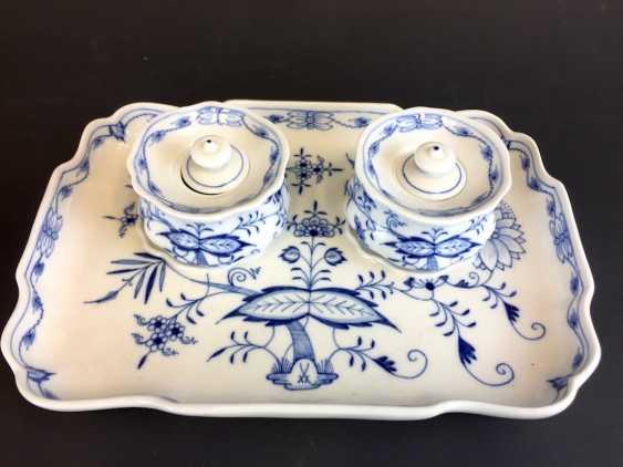 Large Writing Set: Meissen Porcelain. Onion pattern. - photo 3