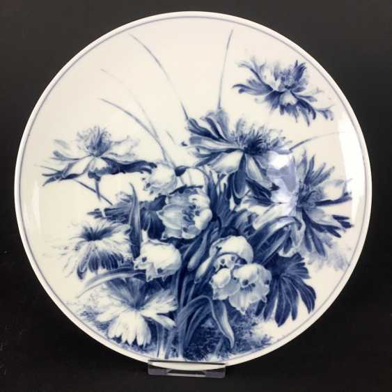 Institutional / wall plate: Meissen porcelain, decor, March, mug adorns, according to William Baring. - photo 1