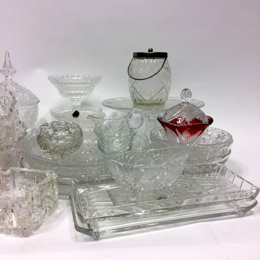 Very Extensive Collection Of Crystal And Glass Vases Plates Boxes