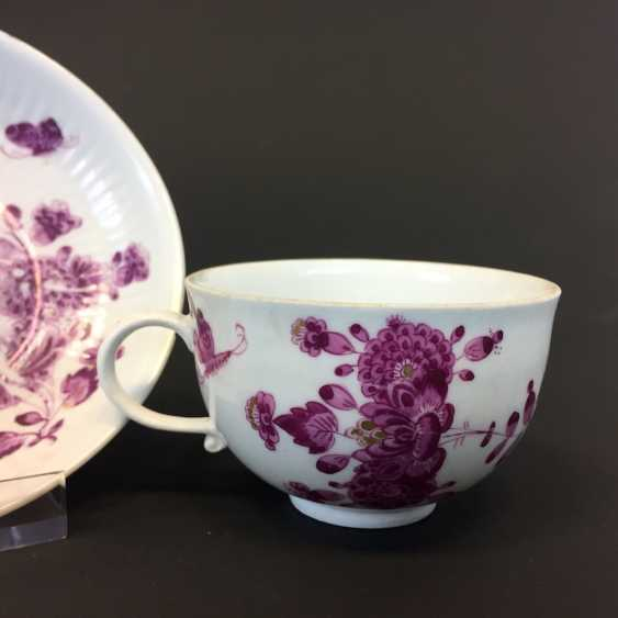 Rare Cup: Meissen porcelain and, in 1740. Oriental decor, Gold equipped. Rare and very good. - photo 3