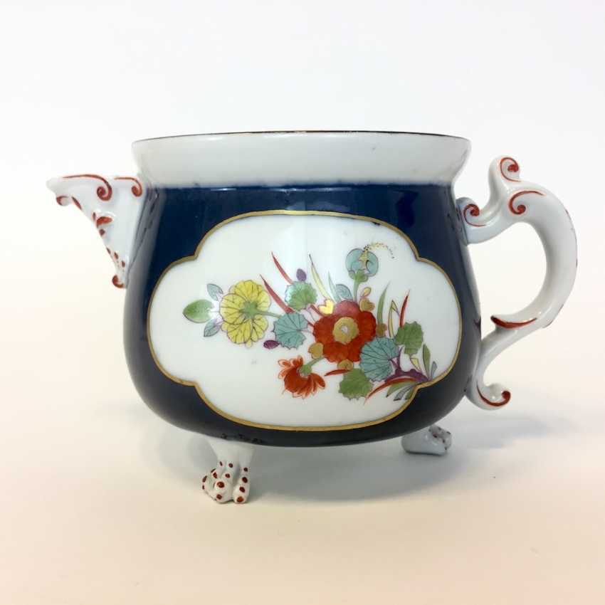 Very early and rare cream pot: Meissen porcelain, Oriental art decor. - photo 1