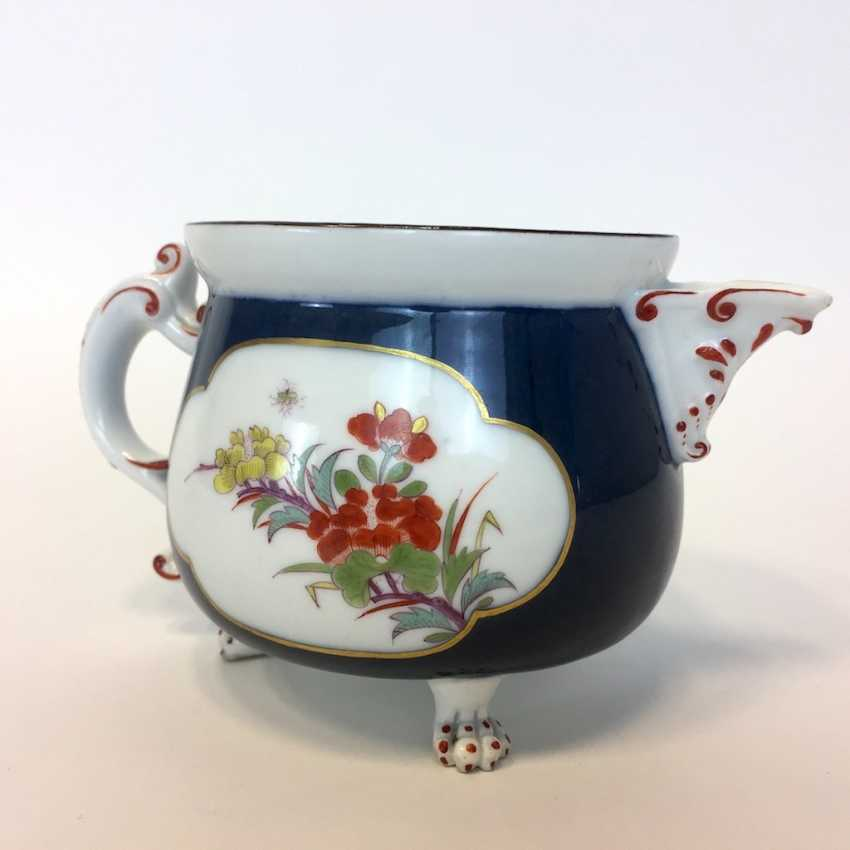 Very early and rare cream pot: Meissen porcelain, Oriental art decor. - photo 3