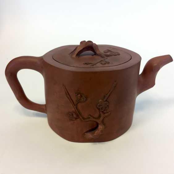 Very rare Yixing teapot, China, 19th century. Century plastic decor. - photo 4