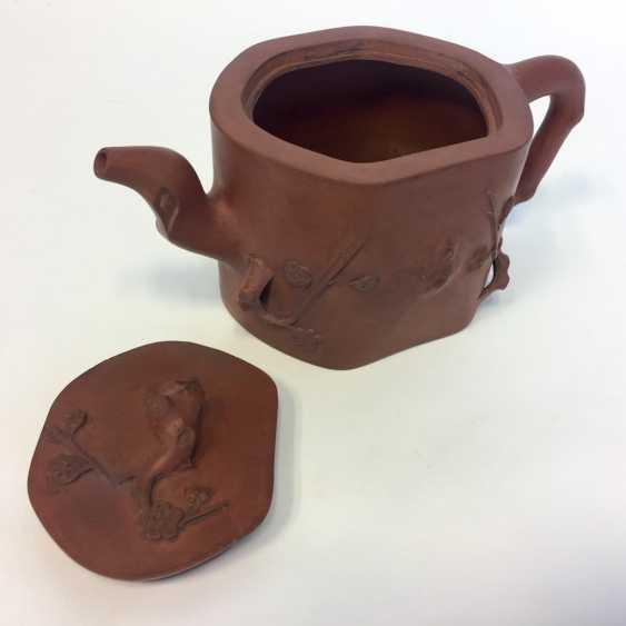Very rare Yixing teapot, China, 19th century. Century plastic decor. - photo 5