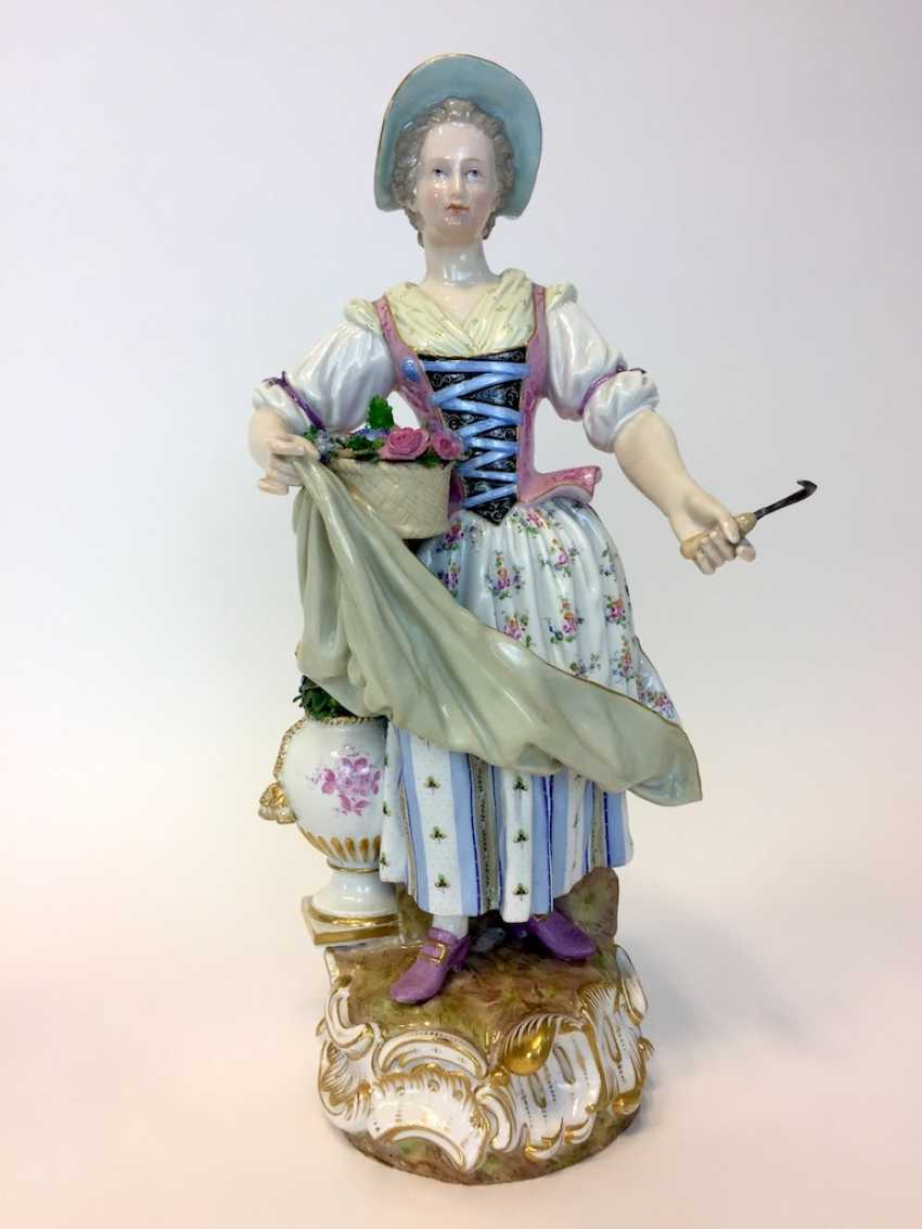 Ernst August, people, Ritz, for the Royal porcelain manufactory Meissen: a Pair of large gardener figures from courtly possession of, 187 - photo 3