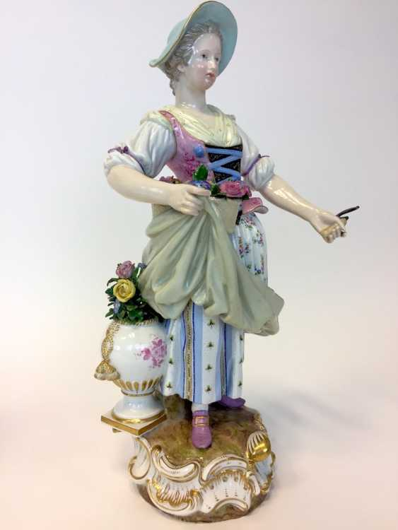 Ernst August, people, Ritz, for the Royal porcelain manufactory Meissen: a Pair of large gardener figures from courtly possession of, 187 - photo 7