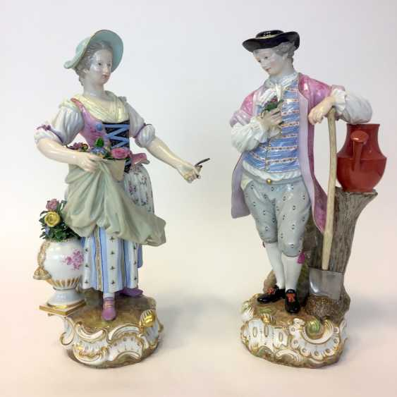 Ernst August, people, Ritz, for the Royal porcelain manufactory Meissen: a Pair of large gardener figures from courtly possession of, 187 - photo 8