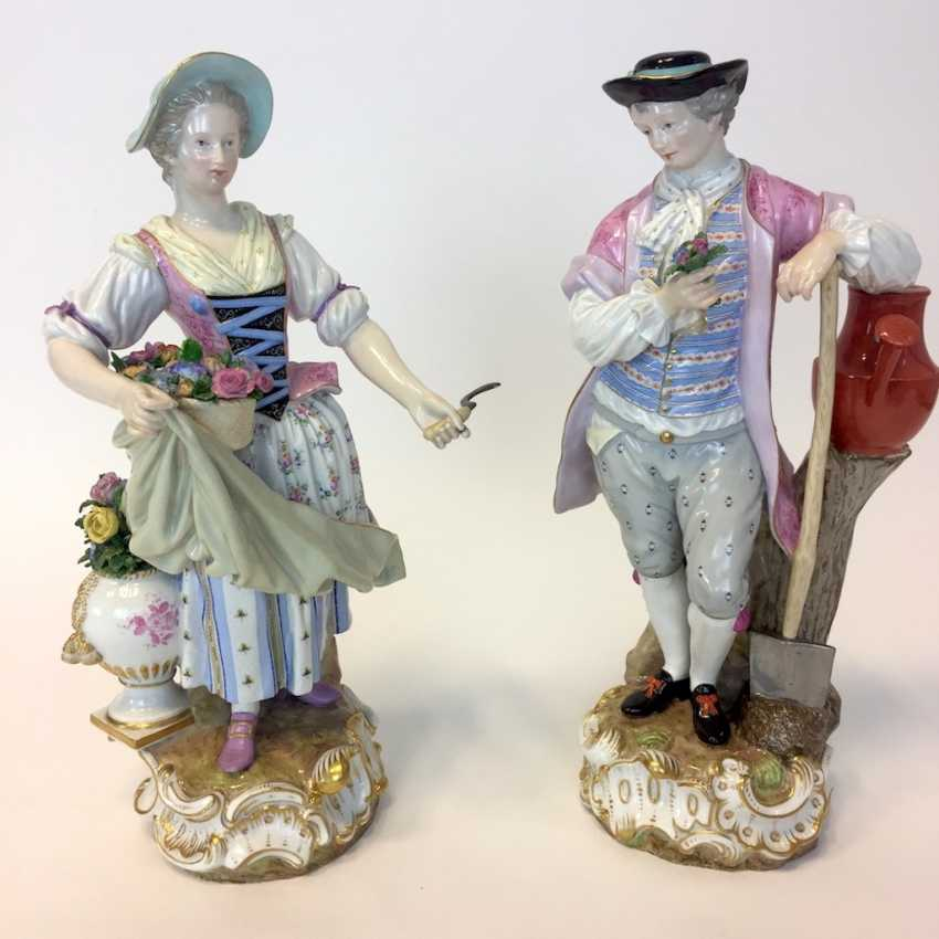 Ernst August, people, Ritz, for the Royal porcelain manufactory Meissen: a Pair of large gardener figures from courtly possession of, 187 - photo 10