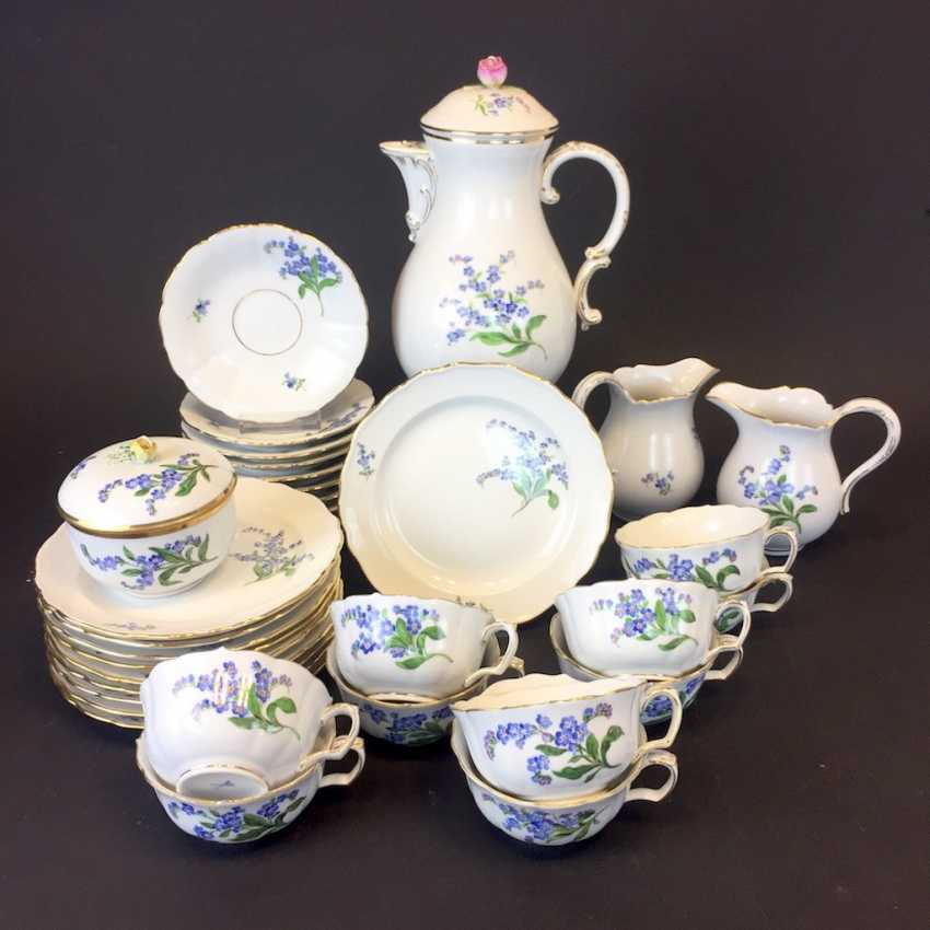 Tea Service, Meissen porcelain, New neck decor don't forget my, around 1910, rare. - photo 4
