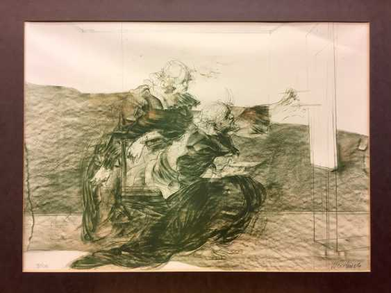 """Claude Weisbuch (Thionville 1927 - 2014 Paris): """"The Moment"""". Lithograph on wove paper. Without The Year. - photo 1"""