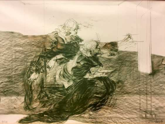 """Claude Weisbuch (Thionville 1927 - 2014 Paris): """"The Moment"""". Lithograph on wove paper. Without The Year. - photo 2"""