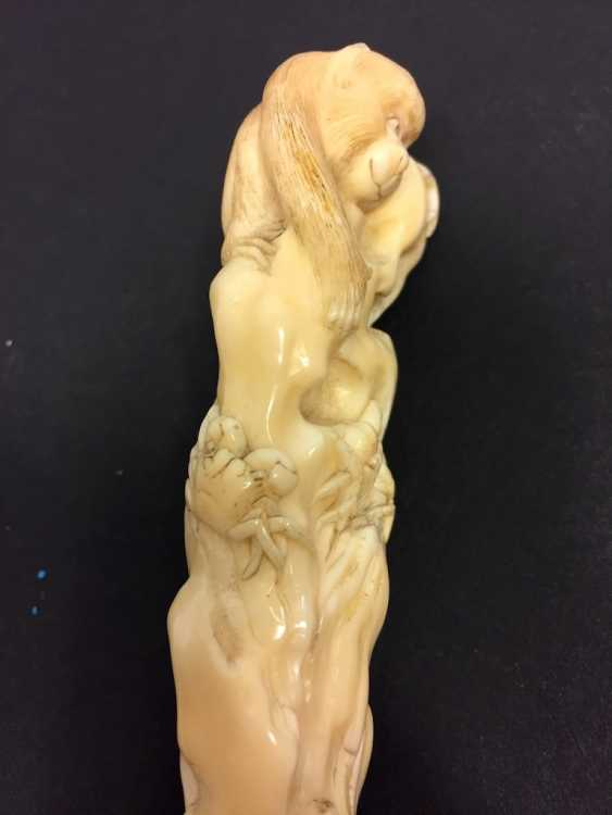 Letter opener: ivory Hand-carved. - photo 3