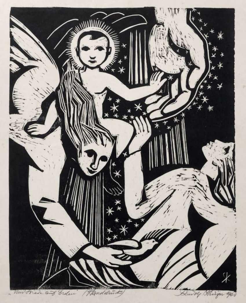 """Rudolf Krüger: """"peace on earth"""". 1960. - photo 1"""