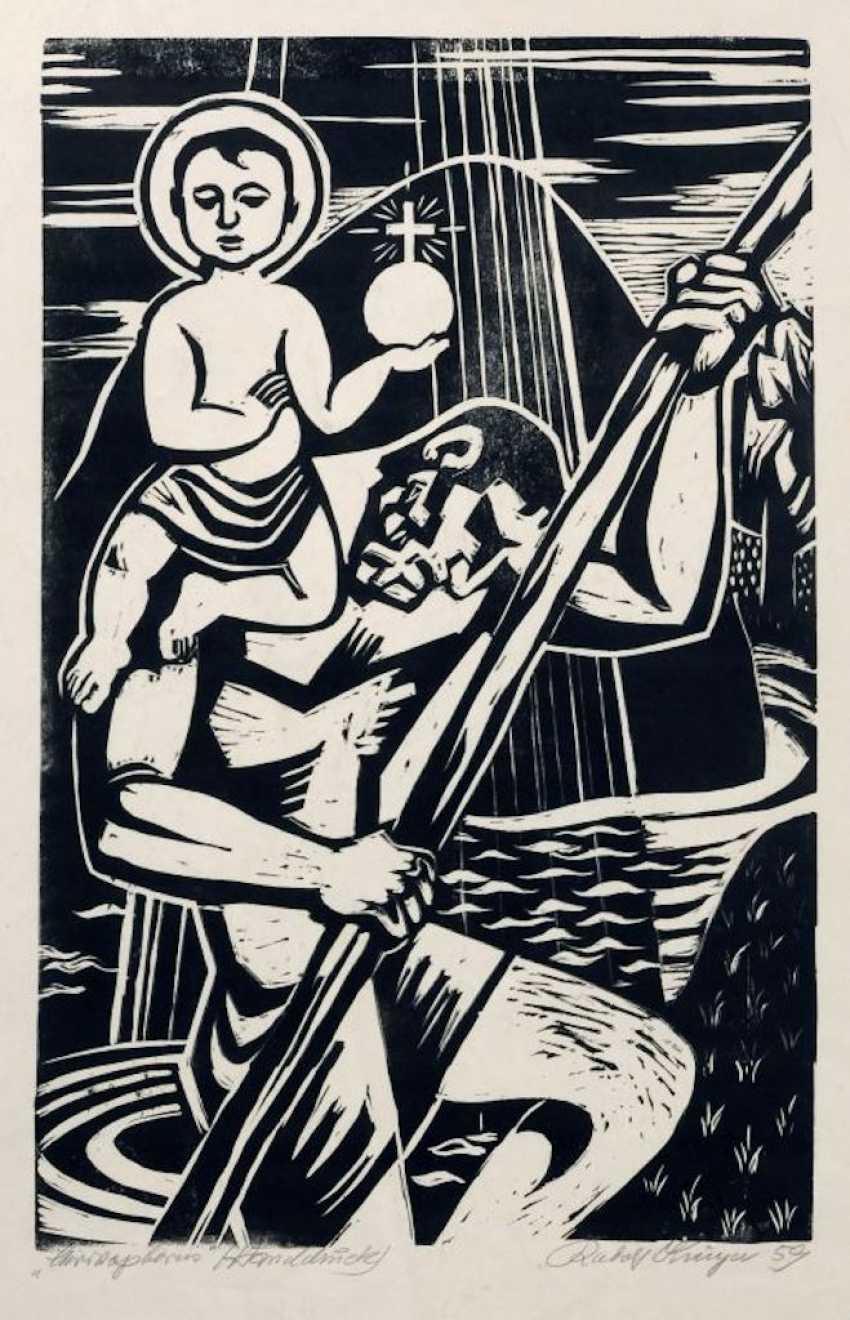 "Rudolf Krüger: ""Christophorus"". 1959. - photo 1"