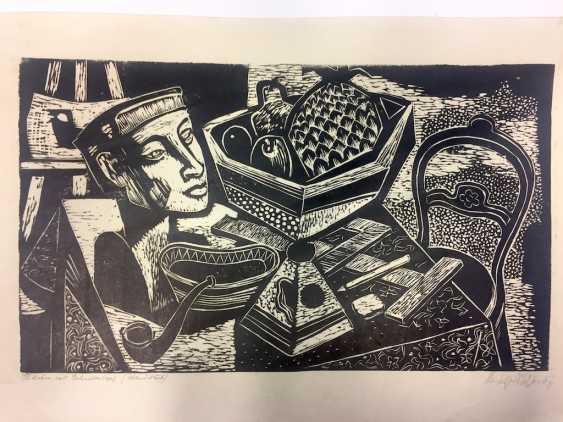 "Rudolf Krüger: ""still life with Akhenaten's head"". 1967. - photo 1"
