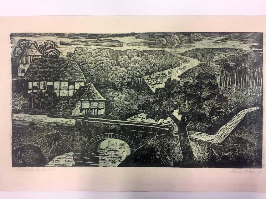 """Rudolf Krüger: """"North German Landscape"""". 1964. - photo 1"""