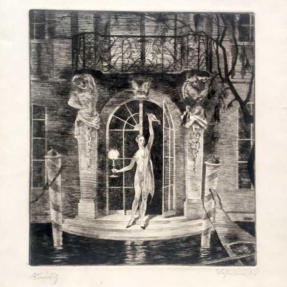 """Herbert Lehmann (Dresden, 1890 - 1946, Munich): """"Venice"""". 1922. - photo 1"""