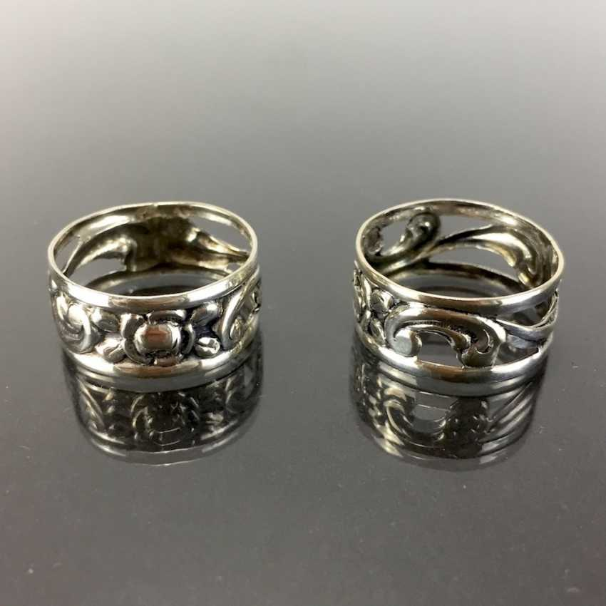 Two Napkin Rings. Silver 835. - photo 1