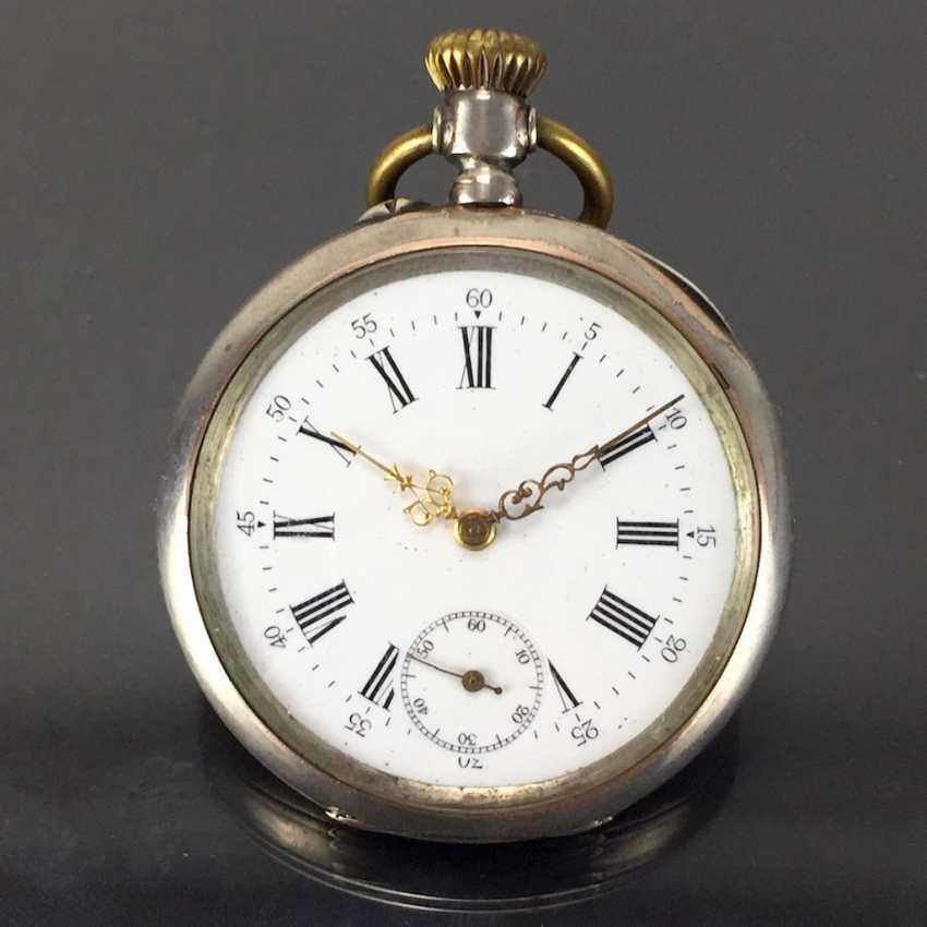 Mens Pocket Watch: Silver. Fine art Nouveau 1900 engraved. - photo 1