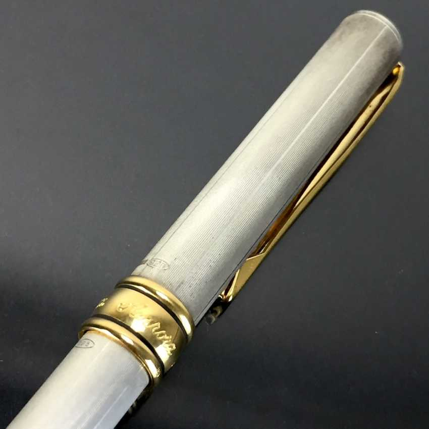 AURORA: cartridge filler / filler / Fountain Pen: Sterling silver, metal fittings gold plated. Spring 585 / 14 K. Mint. - photo 3