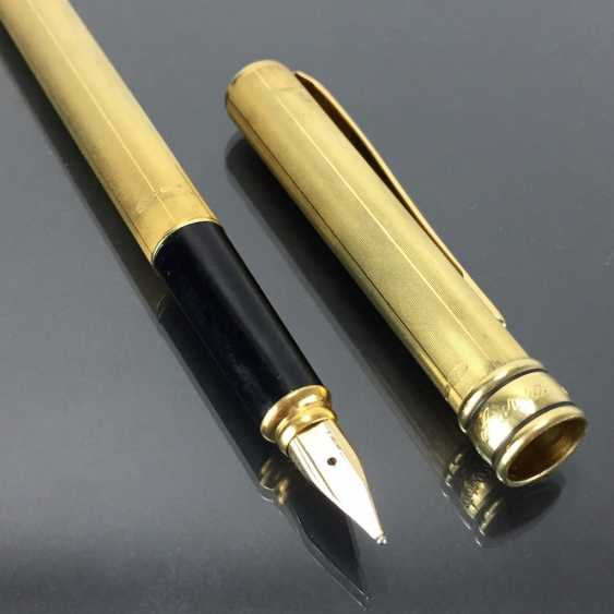 AURORA: cartridge filler / filler / Fountain Pen: Sterling silver, gold plated. Spring 585 / 14 K. Mint. - photo 3