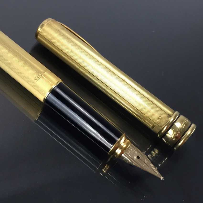 AURORA: cartridge filler / filler / Fountain Pen: Sterling silver, gold plated. Spring 585 / 14 K. Mint. - photo 4