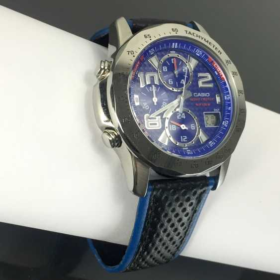 Casio Wave Ceptor WVQ-550LE-9AVER wrist watch for men. The dial is blue. Radio-controlled clock! - photo 3