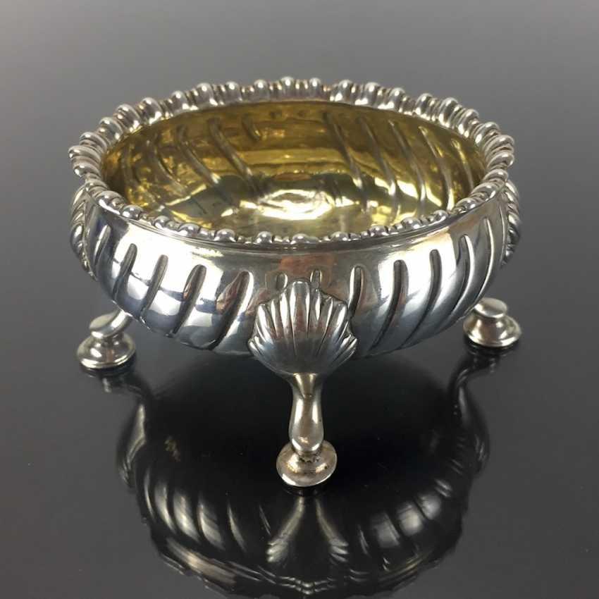 Baroque Salt Bowl / Salière: France, 18. Century, Silver. - photo 1