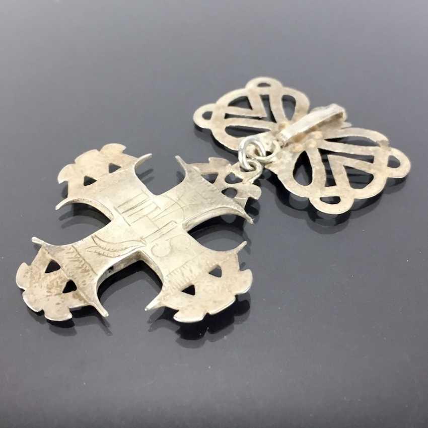 Cross Pendant: Silver, Filigree Work. - photo 2