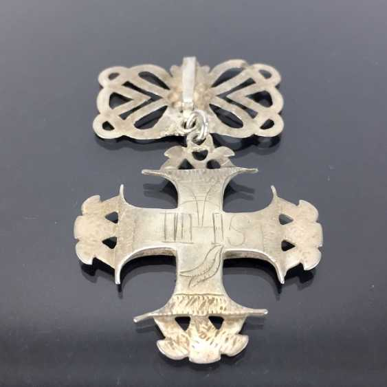 Cross Pendant: Silver, Filigree Work. - photo 3