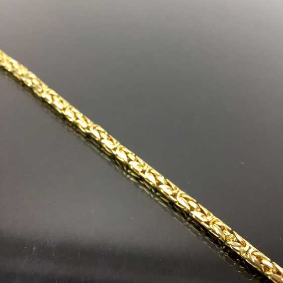 Heavy and massive king chain bracelet. Yellow gold 585. - photo 2