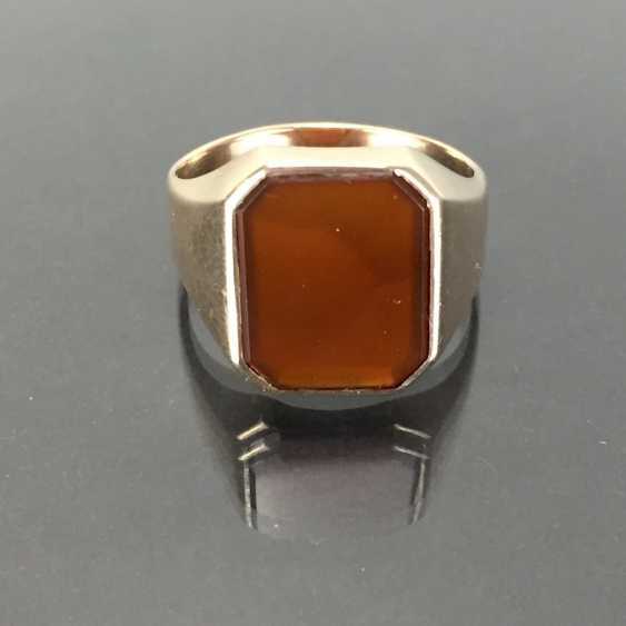 A timeless men's ring with carnelian. - photo 1