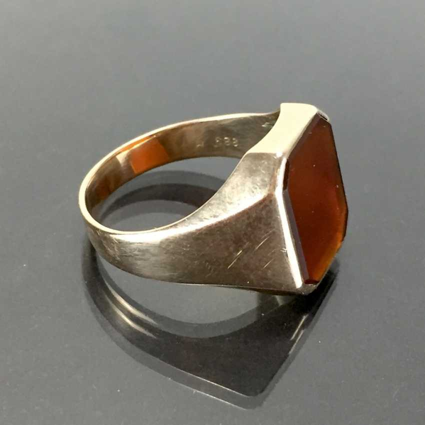 A timeless men's ring with carnelian. - photo 2