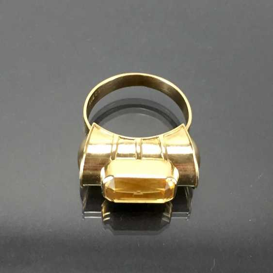Respectable ladies ring with gold Topaz. Yellow gold 585. - photo 6