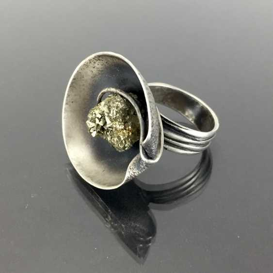 Designer Ring with pyrite. - photo 1