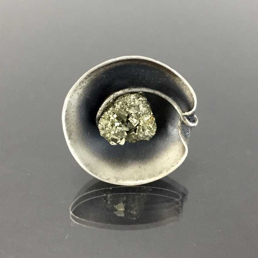 Designer Ring with pyrite. - photo 2