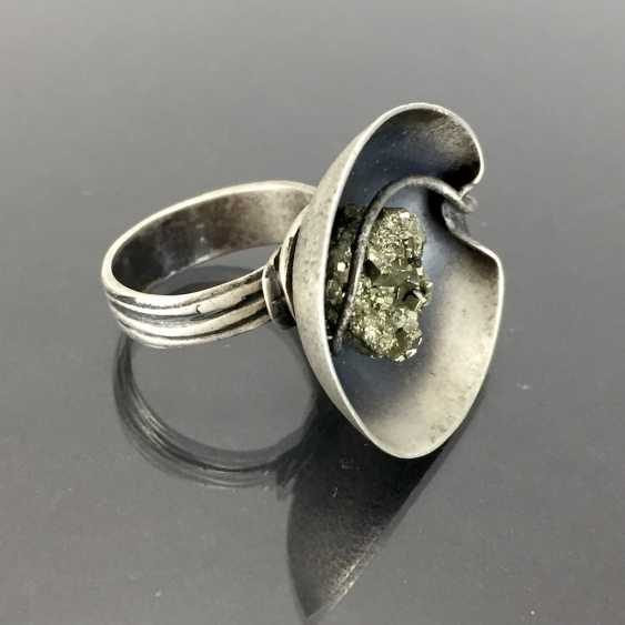 Designer Ring with pyrite. - photo 3