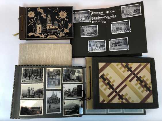 Five photo albums 1930-s: 250 photos from Gera, Werdau, Kronach, watch, and, of Leipzig, Zeppelin flight, Jessen, Meissen. - photo 1
