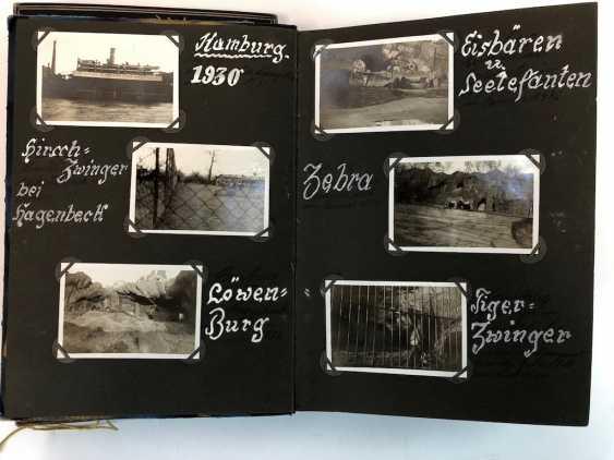 Five photo albums 1930-s: 250 photos from Gera, Werdau, Kronach, watch, and, of Leipzig, Zeppelin flight, Jessen, Meissen. - photo 3