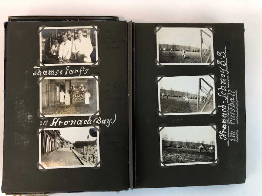 Five photo albums 1930-s: 250 photos from Gera, Werdau, Kronach, watch, and, of Leipzig, Zeppelin flight, Jessen, Meissen. - photo 4