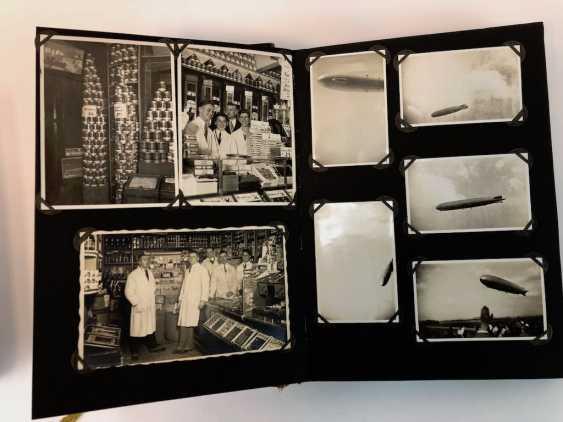 Five photo albums 1930-s: 250 photos from Gera, Werdau, Kronach, watch, and, of Leipzig, Zeppelin flight, Jessen, Meissen. - photo 5